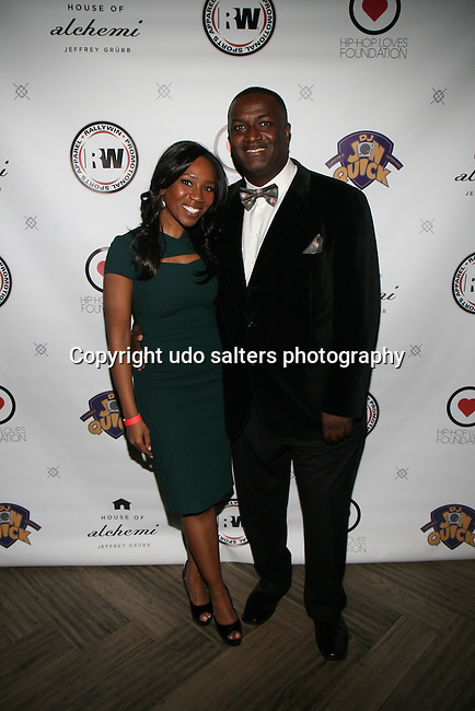 Eunice Omole and DJ Jon Quick  at DJ Jon Quick's 5th Annual Beauty and the Beat: Heroines of Excellence Awards Honoring AMBRE ANDERSON, DR. MEENA SINGH,<br />
