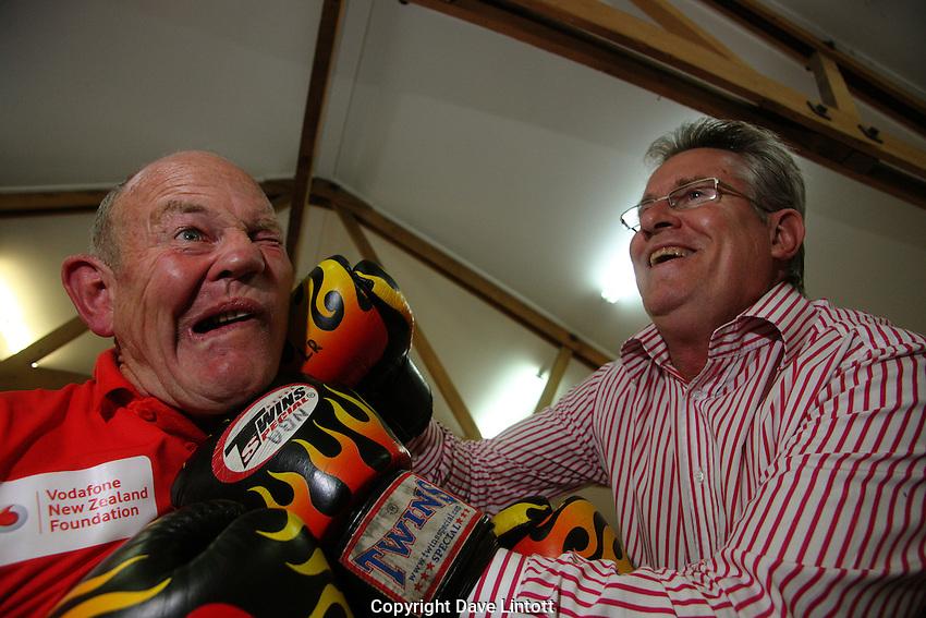 John Walker and Billy Graham at Billy's Naenae boxing gym, Naenae, Wellington on Monday, 26 April 2010. Photo: Dave Lintott/lintottphoto.co.nz
