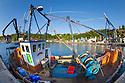 Fishing boat, Tobermory harbour, Isle of Mull, Scotland, UK.
