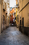 Another narrow alleyway in the old town of Bari in Puglia, Italy