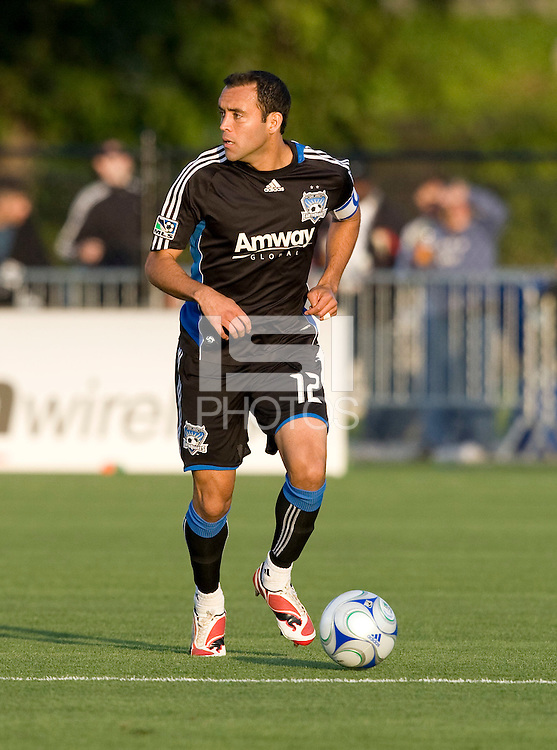 30 May 2009: Ramiro Corrales of the Earthquakes in action during the game against Salt Lake at Buck Shaw Stadium in Santa Clara, California.   Earthquakes defeated Real Salt Lake, 2-1.