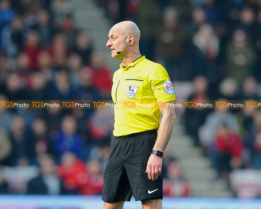 Referee Roger East during AFC Bournemouth vs Swansea City, Barclays Premier League Football at the Vitality Stadium on 12th March 2016