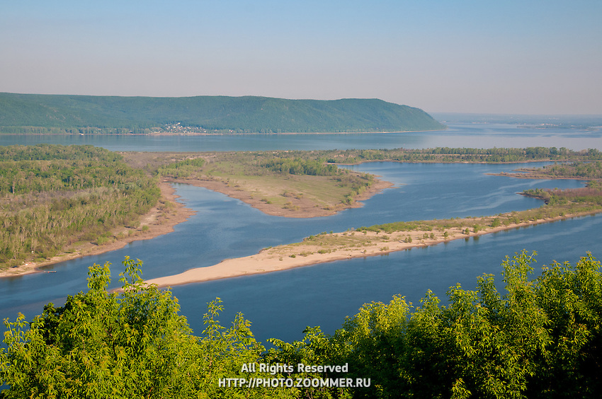 Volga River And Zhiguli Mountains Near Samara | Travel ...