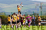 Dean  Enright, Abbeyfeale gets the line out in Castleisland Rfc V Abbeyfeale Rfc at the Con Houlihan Weekend in Crageens Rugby Ground Castleisland on Sunday