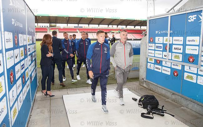 07.08.2019 FC Midtjylland and Rangers pressers: Greg Docherty