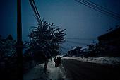 Kotowice 01.2010 Poland<br /> Because of lack of electricity. Town at night are dark.<br /> Three atmospheric forces: rain, snow and frost have changed into an ecological disaster the Myszkowski district in the Czestochowskie province, located 230 kilometers south of Warsaw. Almost 95% of all trees are down.Thousands of homes are left without electricity.<br /> Photo: Adam Lach / Napo Images for Newsweek Polska<br /> <br /> W nocy miasteczka sa zaciemnione.<br /> Wstepnie &quot;tylko&quot; 95% scietych drzew w dwoch powiatach. 0.5 miliona metrow szesciennych zniszczonych lasow..Tysiace gospodarstw bez pradu. Wszyscy maja swiadomosc, ze na kumulacje trzech niekorzystnych .zjawisk atmosferycznych rady nie ma.Trzy zjawiska kt&oacute;re zamienily jeden z obszarow Polski w istna katastrofe ekologiczna: deszcz, snieg i szadz.<br /> Fot: Adam Lach / Napo Images dla Newsweek Polska