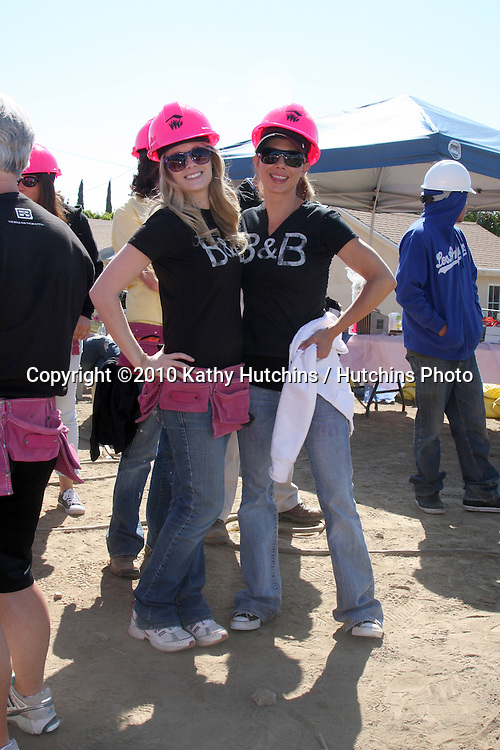 Kimberly Matula, Sarah Brown.at the Habitat For Humanity San Fernando/Santa Clarita  Valleys Women Empowerment Building Site - TV & Soap Stars.Habitat for Humanity build site, 12600 Carl St..Pacoima, CA.May 23, 2010.©2010 Kathy Hutchins / Hutchins Photo..