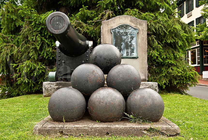 World War memorial, New Hope, Pennsylvania, PA, USA