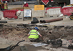 Rescue archaeology on building site, Norwich, Norfolk, England