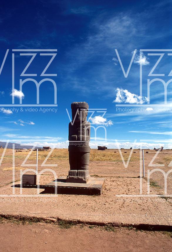 COPACABANA-BOLIVIA-03-09-2007. A 158 kilómetros de La Paz se encuentran ruinas precolombinas, algunas datan de la época de los Incas. COPACABANA-BOLIVIA-03-09-2007.A158 kilometers from La Paz are pre-Columbian ruins, some dating from the time of the Incas. (Photo: VizzorImage)