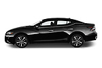 Car Driver side profile view of a 2020 Nissan Maxima SV 4 Door Sedan Side View