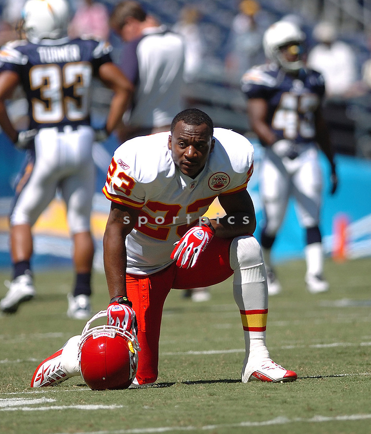 PATRICK SURTAIN,  of the Kansas City Chiefs , in action during the Chiefs game against the San Diego Chargers in San Diego, CA on September 30, 2007...The Chiefs win 30-16.
