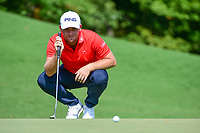 Tyrell Hatton (ENG) lines up his putt on 8 during Friday's round 2 of the PGA Championship at the Quail Hollow Club in Charlotte, North Carolina. 8/11/2017.<br /> Picture: Golffile | Ken Murray<br /> <br /> <br /> All photo usage must carry mandatory copyright credit (&copy; Golffile | Ken Murray)