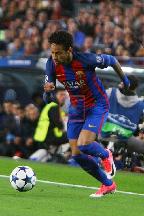UEFA Champions League 2016/2017.<br /> Quarter-finals 2nd leg.<br /> FC Barcelona vs Juventus Football Club: 0-0.<br /> Neymar Jr.