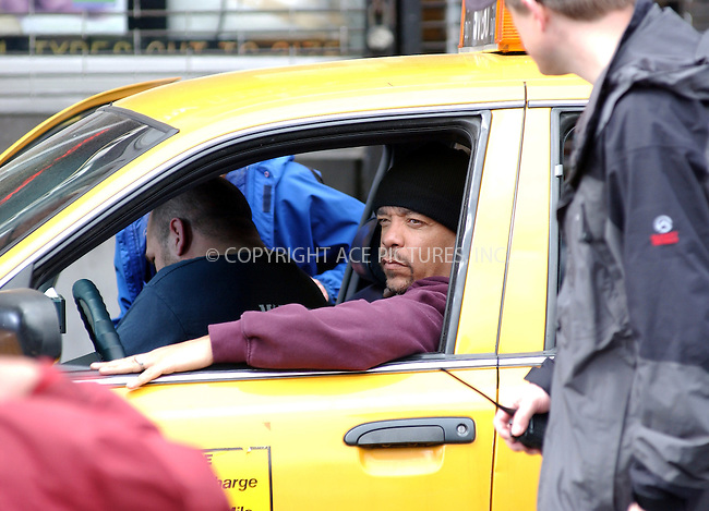 WWW.ACEPIXS.COM . . . . . ....NEW YORK, MAY 16, 2005....Ice-T filming on the set of 'Law and Order SVU.'....Please byline: KRISTIN CALLAHAN - ACE PICTURES.. . . . . . ..Ace Pictures, Inc:  ..Craig Ashby (212) 243-8787..e-mail: picturedesk@acepixs.com..web: http://www.acepixs.com