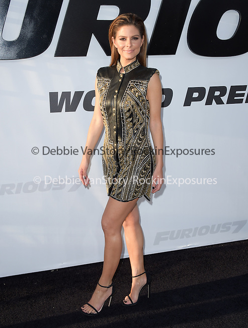 Maria Menounos attends The Universal Pictures World Premiere of Furious 7 held at The TCL Chinese Theatre IMAX Theater  in Hollywood, California on April 01,2015                                                                               © 2015 Hollywood Press Agency