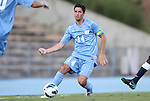 31 August 2012: UNC's Jordan Gafa. The University of North Carolina Tar Heels defeated the West Virginia University Mountaineers 1-0 at Fetzer Field in Chapel Hill, North Carolina in a 2012 NCAA Division I Men's Soccer game.