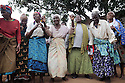 ELDERLY WOMEN IN THE VILLAGE OF KASARIKA NEAR LUCHENZA, MALAWI, SING A SONG ABOUT HIV. KASARIKA IS AN AIDS COMMUNITY WHICH CARES FOR 45 AIDS WIDOWS AND 111 AIDS ORPHANS. PICTURE BY CLARE KENDALL. 2/11/12
