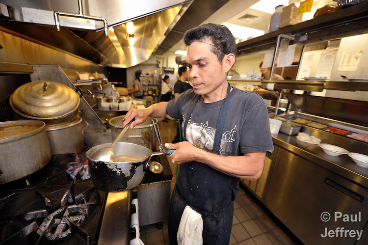 Singha Naubon, a native of Thailand and a survivor of human trafficking, works today in a Thai restaurant in Honolulu, Hawaii.