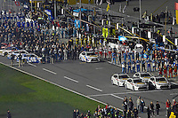 12-13 February, 2016, Daytona Beach, Florida, USA<br /> Avalon Parade vehicles and Camry Pace Car at the front of the grid.<br /> ©2016, F. Peirce Williams