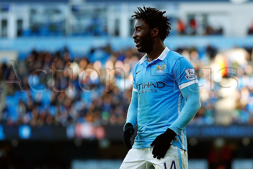 05.03.2016. The Etihad, Manchester, England. Barclays Premier League. Manchester City versus Aston Villa. Wilfried Bony of Manchester City looks dejected as he misses several chances in the first half