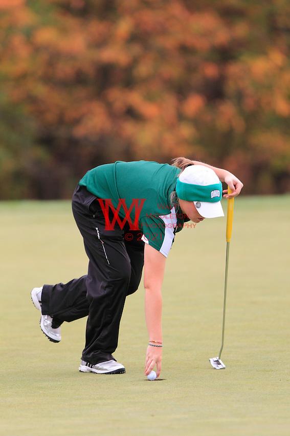 Ohio University Women's Golf Team compete in the MAC Women's Golf Preview. October 18th, 2010. Longaburger Golf Club, Nashport, OH.