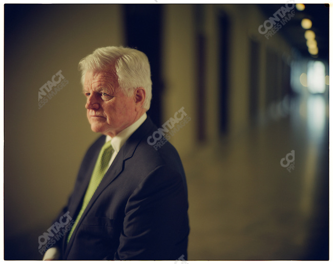 "Senator Edward ""Ted"" Kennedy, in the hallway in front of his Senate office, Washington D.C., USA, March 17, 2006"
