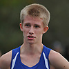 Kal Lewis of Shelter Island speaks to a reporter after legging out a second place finish in the Suffolk County varsity boys cross country Division Championships at Sunken Meadow State Park on Thursday, Oct. 26, 2017.