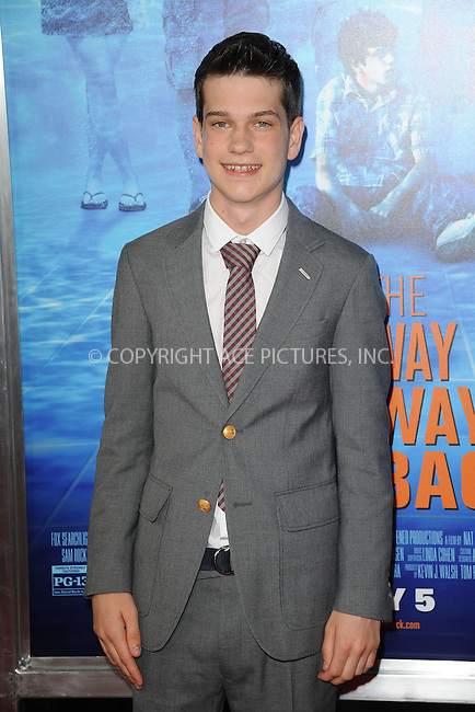 WWW.ACEPIXS.COM<br /> June 26, 2013, New York City<br /> <br /> Liam James attends 'The Way, Way Back ' New York Premiere at AMC Loews Lincoln Square on June 26, 2013 in New York City.<br /> <br /> By Line: Kristin Callahan/ACE Pictures<br /> ACE Pictures, Inc.<br /> tel: 646 769 0430<br /> Email: info@acepixs.com<br /> www.acepixs.com<br /> Copyright:<br /> Kristin Callahan/ACE Pictures