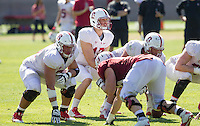 STANFORD, CA - MARCH 7, 2014--Stanford's Ryan Burns, during Open Football Practices at Stanford University.