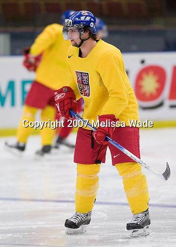 Team Slovakia takes part in a morning skate on Tuesday, January 2, 2007, at Ejendals Arena in Leksand, Sweden during the 2007 World Junior Championship.  Team Slovakia would survive a relegation scare and will be eligible for the 2008 World Junior Championship which will be held in the Czech Republic.<br />