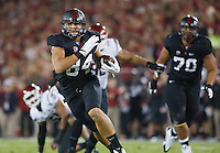 Stanford-October 10, 2014: Austin Hooper during the Stanford vs. Washington State game Friday night at Stanford Stadium.<br /> <br /> The Cardinal defeated the Cougars 34-17.