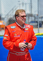 Apr 25, 2009; Talladega, AL, USA; NASCAR Nationwide Series driver Donnie Neuenberger prior to the Aarons 312 at the Talladega Superspeedway. Mandatory Credit: Mark J. Rebilas-