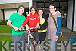 LAUNCH: At the launch of Bicycle Week at Kerry County Library on Saturday, Ted Moynihan, Karena and Michelle Sheehan and Maria McCarthy.