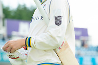 Picture by Allan McKenzie/SWpix.com - 20/04/2018 - Cricket - Specsavers County Championship - Yorkshire County Cricket Club v Nottinghamshire County Cricket Club - Emerald Headingley Stadium, Leeds, England - Shire Bed Company, branding.