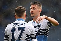 Ciro Immobile of Lazio celebrates with Sergej Milinkovic-Savic after scoring a goal during the Serie A 2018/2019 football match between SS Lazio and Spal at stadio Olimpico, Roma, November 04, 2018 <br />  Foto Andrea Staccioli / Insidefoto