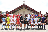 Mens and Womens Captains Team Photo.<br /> 2019 Hamilton Sevens captains' photo at Turangawaewae Marae in Ngaruawahia, New Zealand on Wednesday, 23 January 2019. Photo: Jeremy Ward / lintottphoto.co.nz