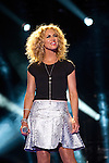 Kimberly Schlapman of Little Big Town performs at LP Field during Day 2 of the 2013 CMA Music Festival in Nashville, Tennessee.