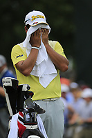 Hideki Matsuyama (JPN) on the 1st tee to start Saturday's Round 3 of the 2017 PGA Championship held at Quail Hollow Golf Club, Charlotte, North Carolina, USA. 12th August 2017.<br /> Picture: Eoin Clarke | Golffile<br /> <br /> <br /> All photos usage must carry mandatory copyright credit (&copy; Golffile | Eoin Clarke)
