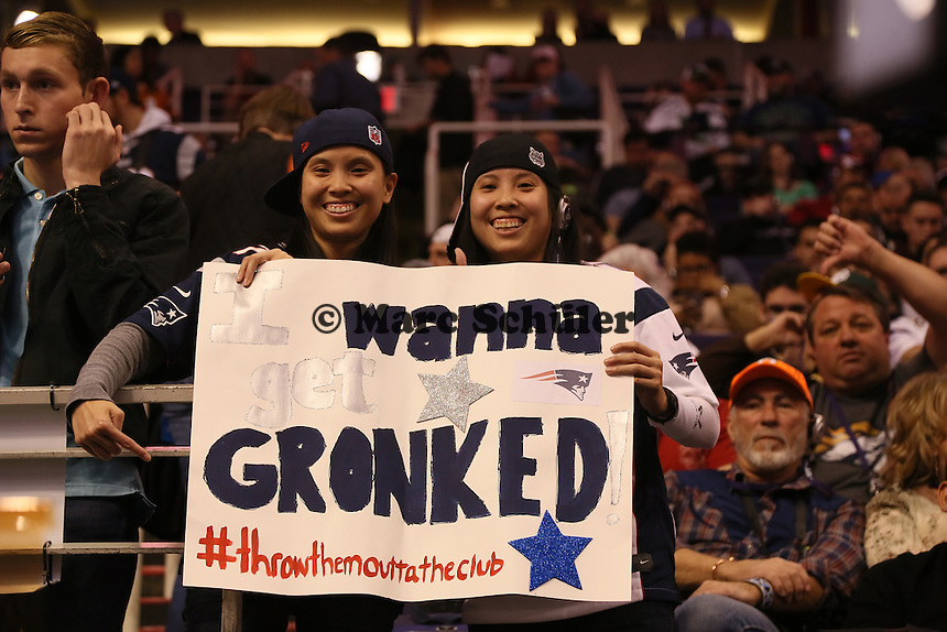 Fans von Rob Gronkowski (Patriots)  - Super Bowl XLIX Media Day, US Airways Center, Phoenix