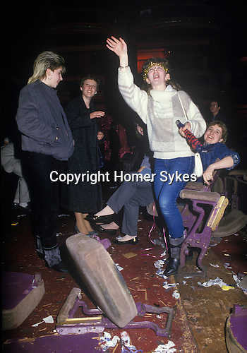 Fans Big Country on tour Scotland, smashed up theatre seats.