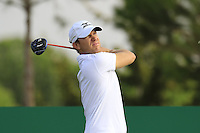 Magnus A Carlsson (SWE) tees off the 15th tee during Thursday's Round 1 of the 2016 Portugal Masters held at the Oceanico Victoria Golf Course, Vilamoura, Algarve, Portugal. 19th October 2016.<br /> Picture: Eoin Clarke   Golffile<br /> <br /> <br /> All photos usage must carry mandatory copyright credit (© Golffile   Eoin Clarke)