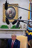 U.S. President Donald Trump welcome Australian Prime Minister Scott Morrison and Mrs. Morrison to the White House in Washington for an official visit on September 20, 2019. <br /> Credit: Tasos Katopodis / Pool via CNP