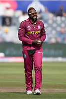Fabian Allen (West Indies) during West Indies vs New Zealand, ICC World Cup Warm-Up Match Cricket at the Bristol County Ground on 28th May 2019