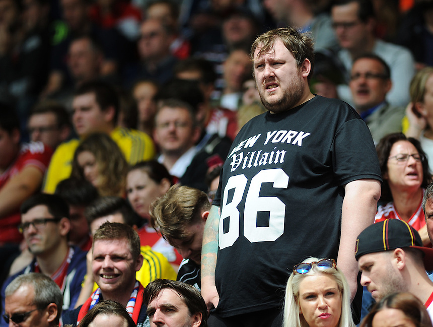 A Middlesbrough fan during todays match<br /> <br /> Photographer Kevin Barnes/CameraSport<br /> <br /> Football - The Football League Sky Bet Championship - Preston North End v Middlesbrough -  Sunday 9th August 2015 - Deepdale - Preston<br /> <br /> &copy; CameraSport - 43 Linden Ave. Countesthorpe. Leicester. England. LE8 5PG - Tel: +44 (0) 116 277 4147 - admin@camerasport.com - www.camerasport.com
