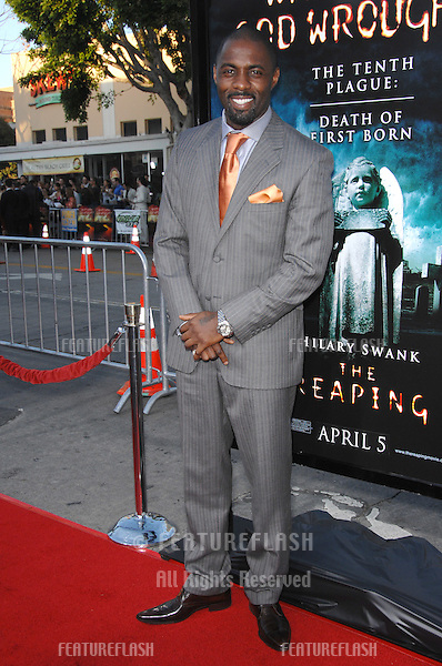 "Idris Elba at the Los Angeles premiere of ""The Reaping"" at the Mann Village Theatre, Westwood..March 30, 2007  Los Angeles, CA.Picture: Paul Smith / Featureflash"