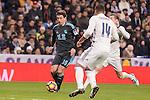 Real Madrid's Carlos Henrique Casemiro and Real Sociedad's Mikel Oyarzabal during La Liga match between Real Madrid and Real Sociedad at Santiago Bernabeu Stadium in Madrid, Spain. January 29, 2017. (ALTERPHOTOS/BorjaB.Hojas)