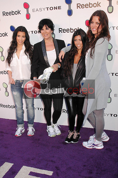 Kimberly Kardashian and Kris Jenner with Kourtney Kardashian and Khloe Kardashian<br />at the Reebok 'Easytone' Footwear Celebration. Private Location, Beverly Hills, CA. 06-23-09<br />Dave Edwards/DailyCeleb.com 818-249-4998