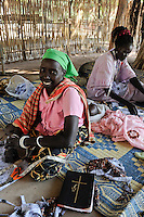 SUED-SUDAN  Bahr el Ghazal region , Lakes State, Rumbek, katholische Kirche, Zentrum fuer Kriegswitwen, Rose Nyidir /Africa SOUTH SUDAN  Bahr al Ghazal region , Lakes State, town Rumbek , catholic church, women group for war widows