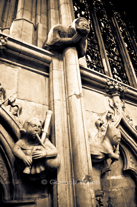 Minstrel Gargoyles in Beverley Minster, UK
